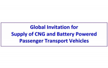 Global Invitation for   Supply of CNG and Battery Powered   Passenger Transport Vehicles
