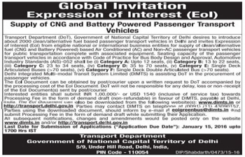 Global Invitation Expression of interest (Eoi)