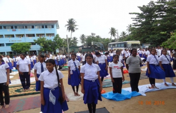 Yoga Sessions conducted at Galle on 16.06.2016
