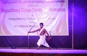 Mayurbhanj Chhau Dance Performance @ Galle on 21st January 2019