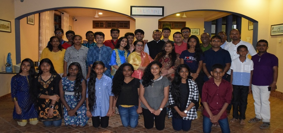 Consul General of India,met the participants of student exchange programme between Sridhamma College,Labuduwa, Galle and St Mark's Secondary School, Meera Bagh, New Delhi on 05th January 2019