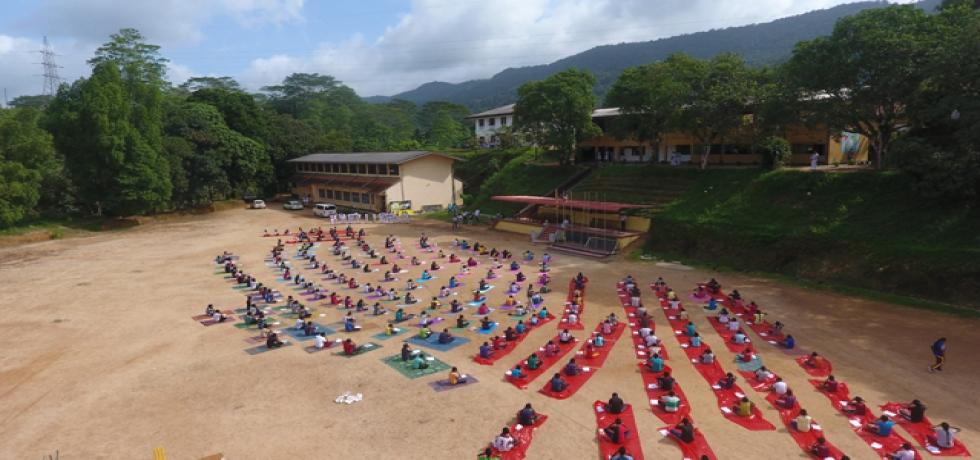 5th International Day of Yoga Celebration @ Keerthi Abeywickrama School, Morawaka