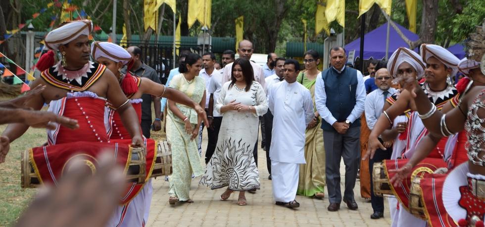 "Inauguration of "" Shilpa Saviya"" craft village – GoI development assistance grant project at Kawanthissapura, Thissamaharama."