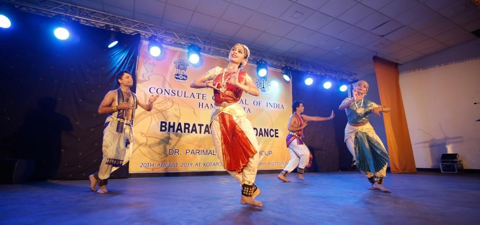 Bharatanatyam dance performance at Deniyaya by Dr. Parimal Phadke & group on the occasion of Independence day celebration 2019