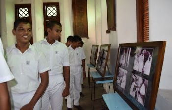 Mahatma Gandhi Photo Exhibition at Richmond College, Galle