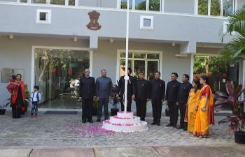 71st Republic Day of India celebrations - Flag Hoisting