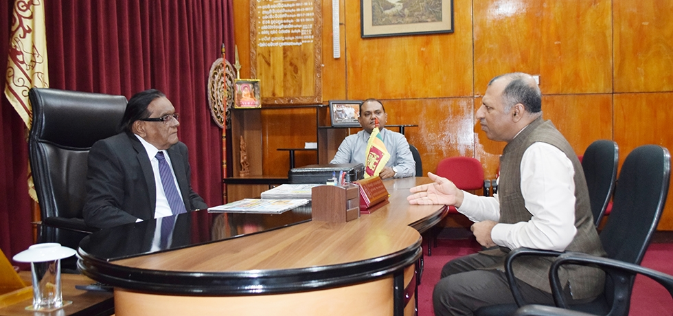 Consul General's meeting with Mr. Raja Collure, Honorable  Governor of Uva Province