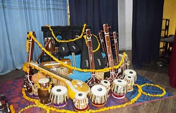 Presentation of Indian Classical Musical Instruments to Schools & University of Ruhuna in Southern Province