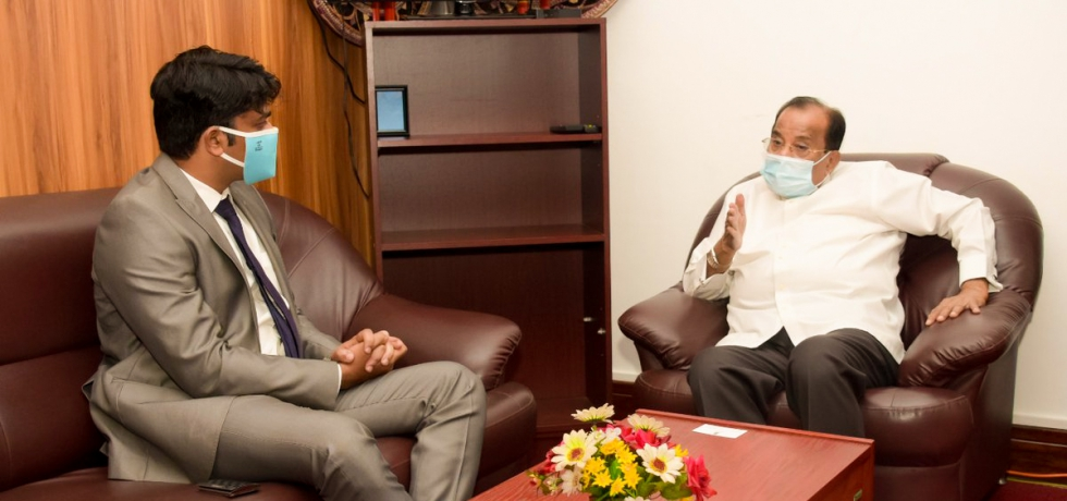 Consul General  called on Hon. Governor of Uva Province, His Excellency Mr. A. J. M. Muzammil at the Uva Provincial Governor's office