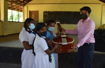 Presentation of Indian Classical Musical Instruments to Weligatta Maha Vidyalaya