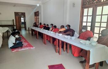 Special Prayers Ceremony at Hambantota Nibbaramaya Temple