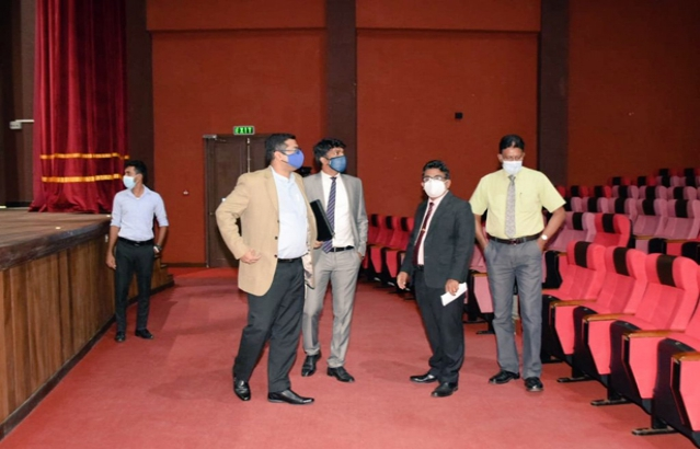 Deputy High Commissioner Visiting the Rabindranath Tagore Memorial Auditorium at University of Ruhuna, Matara